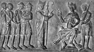Sv. Vojtěch prosí Boleslava II. Pobožného, aby nebyli křesťanští zajatci prodáváni do otroctví