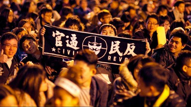 Protest na Tchaj-wanu