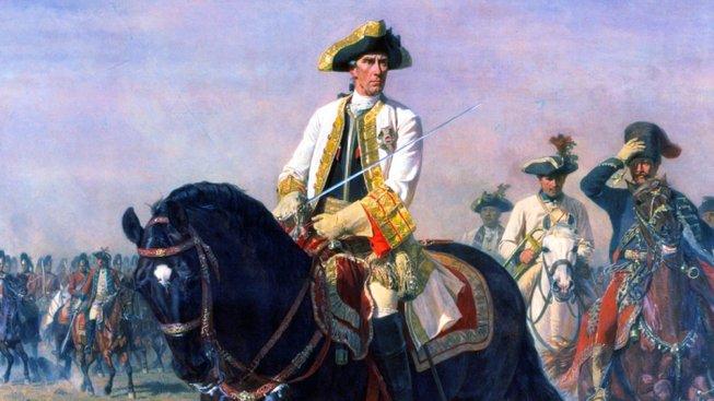 Generál Laudon po bitvě u Kunersdorfu na obraze Siegmunda L'Allemanda