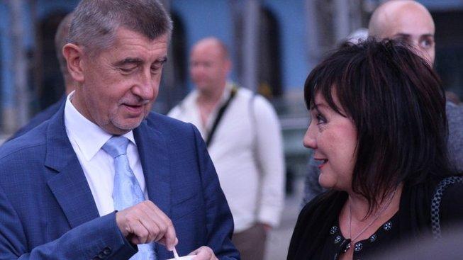 Andrej Babiš a ministryně financí Alena Schillerová