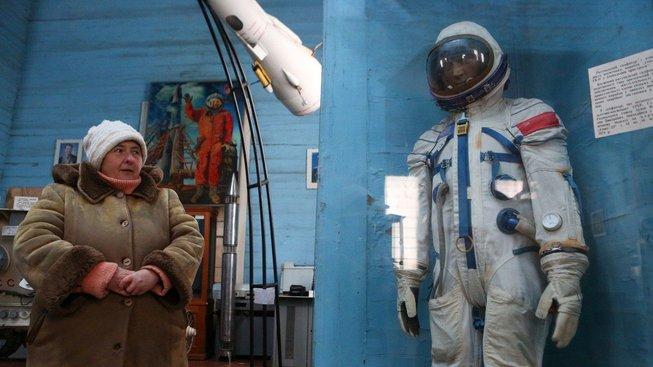 Muzeum kosmonautiky nedaleko Kyjeva se nachází v bývalém pravoslavném kostele
