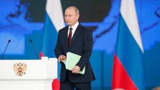 Vladimir Putin v rámci dnešního projevu