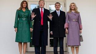 Donald Trump a Andrej Babiš s manželkami