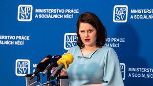 Ministryně práce Jana Maláčová