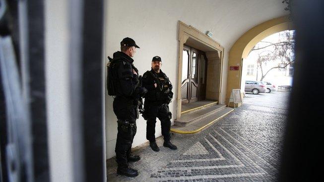 Policie na radnici Brno-střed