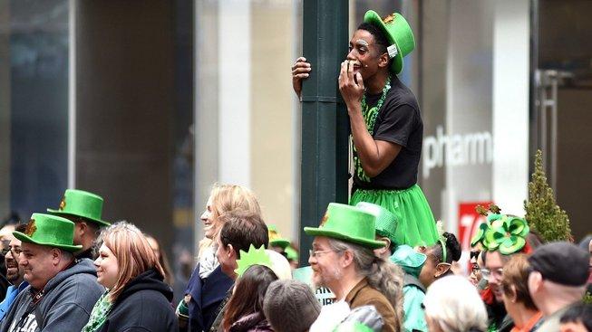 Oslavy Dne svatého Patrika v New Yorku jsou obzvlášť pověstné