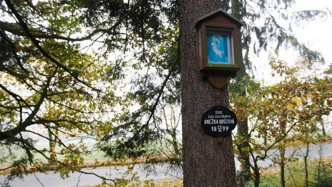 Místo, kde byla před 120 lety zavražděna Anežka Hrůzová