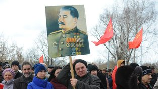 Březnová demonstrace ruských komunistů v Tambově
