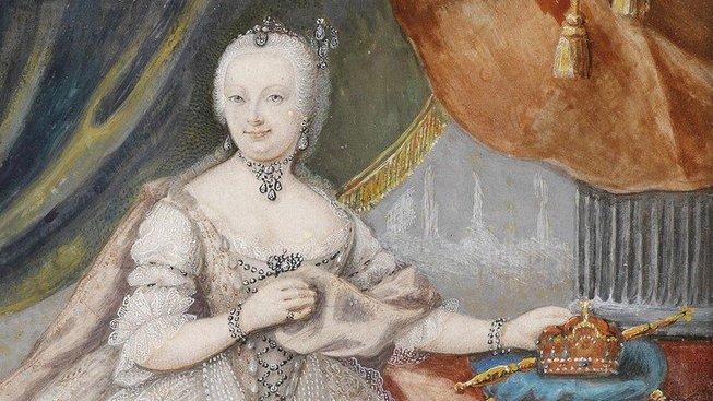 Marie Terezie (1717-1780) z rodu Habsburků, arcivévodkyně rakouská, královna uherská a česká