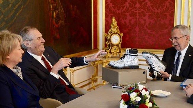 Setkání s rakouským prezidentem Alexandrem Van der Bellenem.