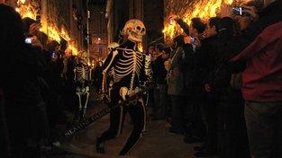 Tanec mrtvých ve španělském městečku Verges