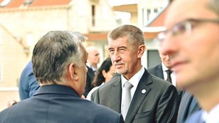 Andrej Babiš a Viktor Orbán během Orbánovy návštěvy Česka