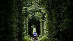 Tunel najdete nedaleko města Klevan