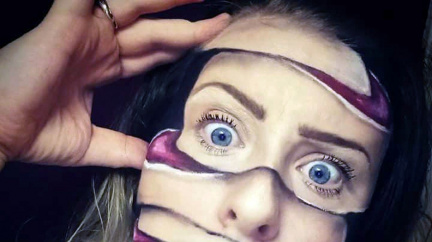 Zářný talent zmalovat se k nepoznání: Britka umí se svým obličejem divy