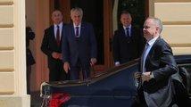 Kiska přijel naposledy jako prezident, Zeman ho uvítal v Lánech