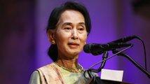 Barmská vůdkyně Su Ťij je v Česku, Babiš ocenil její práci