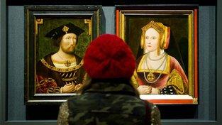 Jindřich VIII. a Kateřina Aragonská na obrazech, byly v roce 2013 poprvé společně vystaveny po stovkách let.