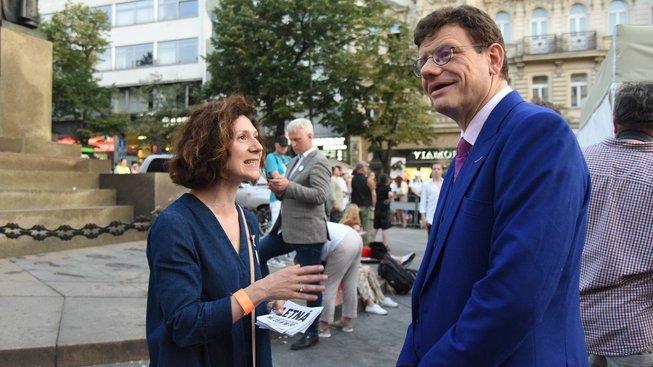 Martha Issová a Martin Jaroš
