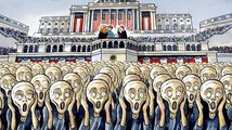 Vzteklý dav si vykřičel konec politických karikatur