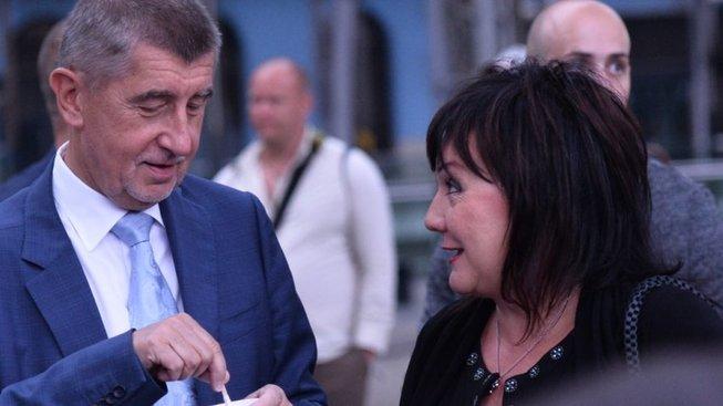 Premiér Andrej Babiš a ministryně financí Alena Schillerová