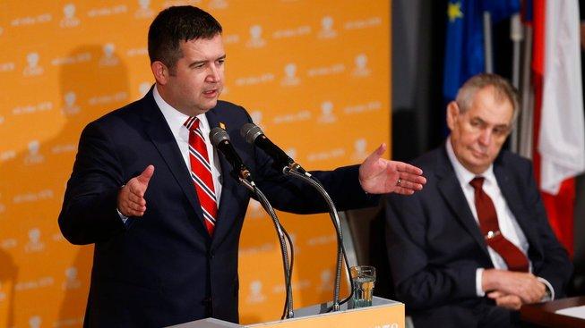 Jan Hamáček a Miloš Zeman
