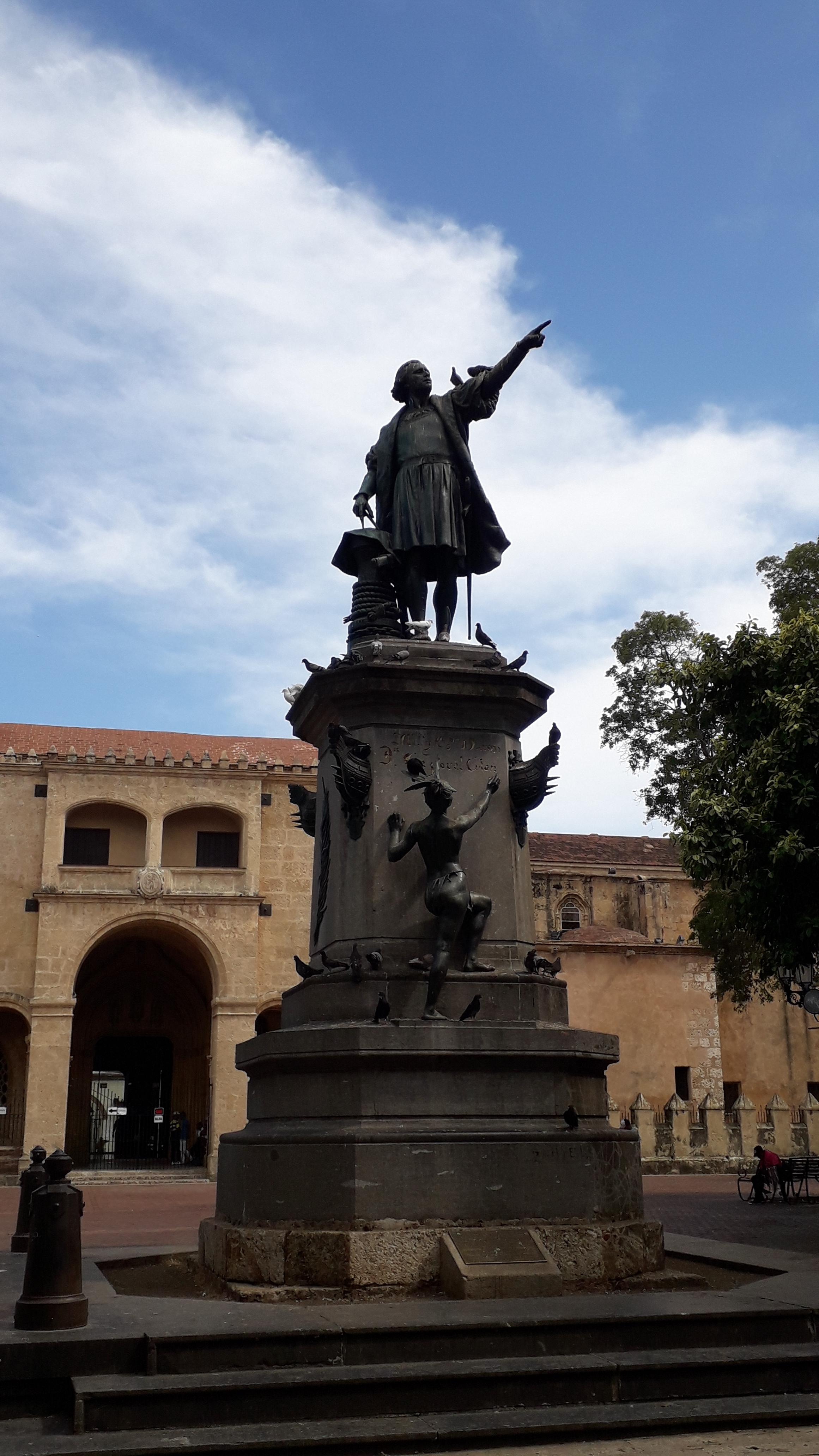 Socha Kryštofa Kolumba v Santo Domingu, hlavním městě Dominikánské republiky