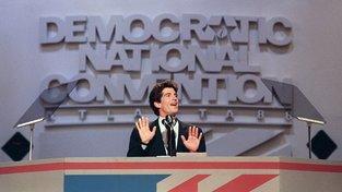 """JFK junior během kampaně svého strýce """"Teda"""" Kennedyho v roce 1988"""