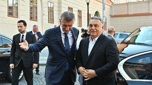 Andrej Babiš a Viktor Orbán