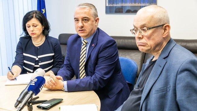 Věra Jourová, Josef Středula a Vladimír Špidla