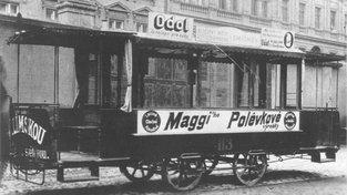 Vůz někdejší brněnské koněspřežné tramvaje, který byl věnován do Prahy