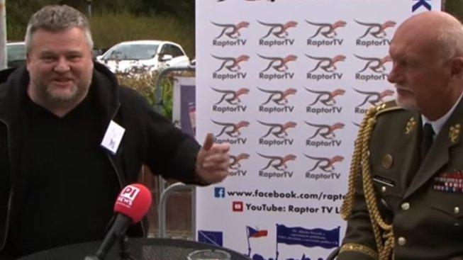 Hynek Blaško a Žarko Jovanovič během rozhovoru pro TV Raptor