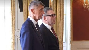 Lubomír Zaorálek a premiér Andrej Babiš na Pražském hradě