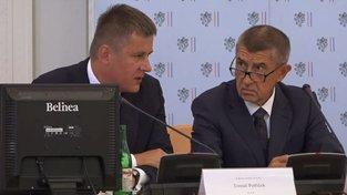 Andrej Babiš a ministr zahraničí Tomáš Petříček