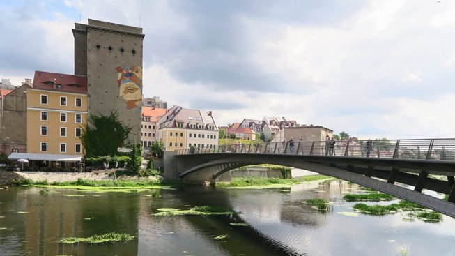 Most mezi polskou a německou stranou
