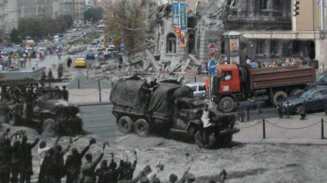 Tehdy a nyní. Václavské náměstí 1945, 1968 a 2008.