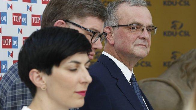 Markéta Pekarová Adamová, Jiří Pospíšil a Miroslav Kalousek