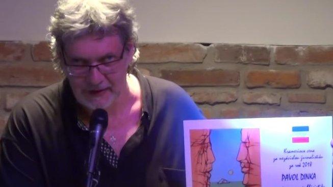 Petr Žantovský při udílení Krameriových cen 2018