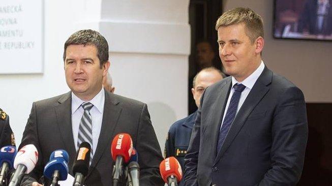 Jan Hamáček a Tomáš Petříček