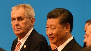 Miloš Zeman při loňské návštěvě Číny s prezidentem Si Ťin-pchingem