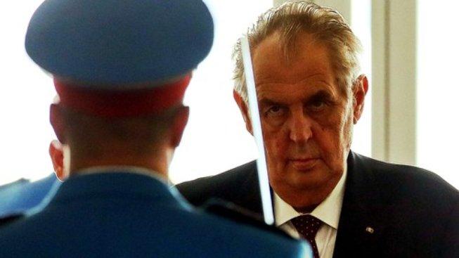 Prezident Miloš Zeman během návštěvy Srbska