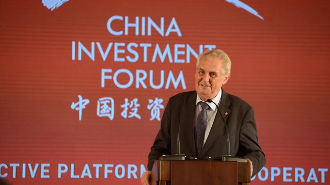 Miloš Zeman na China Investment Forum 2017