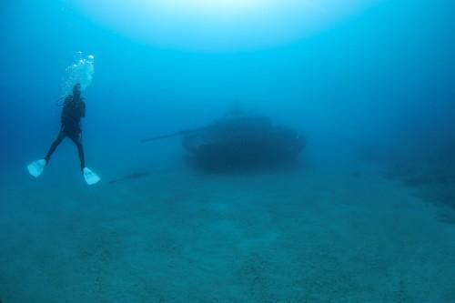 Tank pod vodou