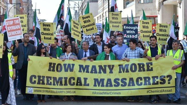 Protesty proti Asadovi, Londýn  2017