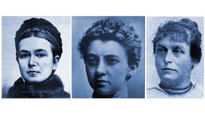 Anna Bayerová, Anna Honzáková a Bohuslava Kecková