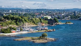 Pohled na norskou metropoli Oslo
