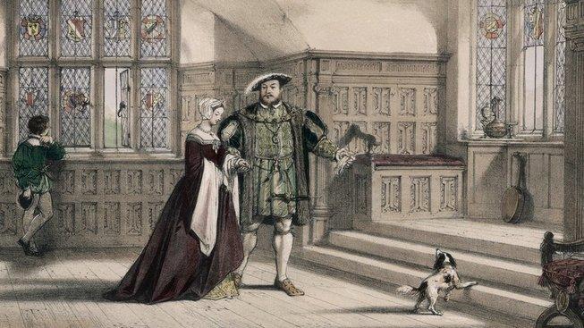 Král Jindřich VIII. s manželkou Annou Boleynovou