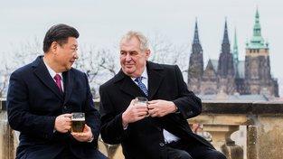 Prezident Miloš Zeman s čínským prezidentem Si Ťin-pchingem