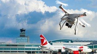 Nelegální dron, Mezinárodní letiště Václava Havla