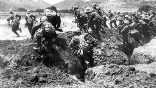Britští vojáci v bitvě o Gallipoli