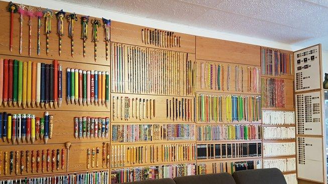 Vladimír Jindra z Kadaně má největší sbírku tužek na světě
